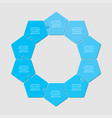 ten pieces puzzle pentagon diagram info graph vector image vector image