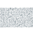 thin line design ecology banner vector image vector image