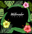 tropical backdrop with frame or border made of vector image vector image