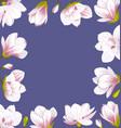 vintage border made beautiful magnolia flowers vector image vector image