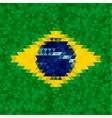 Waving fabric flag of Brazil vector image