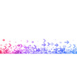 white banner with colorful spectrum arrows vector image