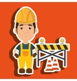 worker warning security tool vector image