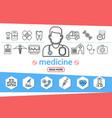medicine line icons set vector image