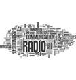 a brief history radio text word cloud vector image vector image