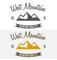 Abstract mountain logo label emblem badge and vector image