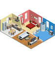 Apartment Isometric Design vector image vector image