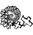 Birds in Spiral Flight vector image vector image