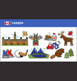 canada travel destination advertisement with vector image