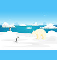 cartoon arctic ice landscape outdoor scene vector image