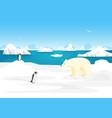 cartoon arctic ice landscape outdoor scene vector image vector image