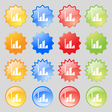 Chart icon sign Big set of 16 colorful modern vector image vector image