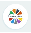 Cheese plate vector image vector image