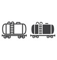 cistern oil train line and glyph icon logistic vector image
