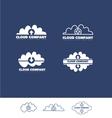 cloud data storage hosting logo vector image vector image