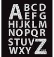 Craquelure alphabet vector image vector image