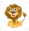 cute cartoon character lion isolated on white vector image vector image