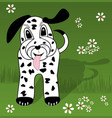 dalmatian puppy cartoon dog with long ears and vector image