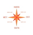 Diagram Compass Rose For Navigation Orientation vector image vector image