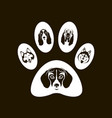 dog footprint image vector image vector image