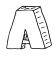 English alphabet - hand drawn letter A vector image vector image