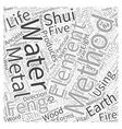 Enhancing Your Life with Feng shui Word Cloud vector image vector image