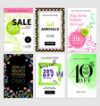 eye catching spring sale banners set vector image vector image