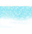 falling snow background realistic snowdrift with vector image