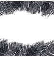 frame of black palm leaves hand drawing vector image vector image