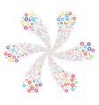 gear swirl flower shape vector image
