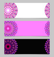geometrical abstract horizontal floral mandala vector image vector image