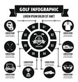 golf infographic concept simple style vector image vector image