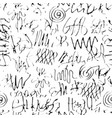 hand drawn seamless pattern with abstract doodles vector image vector image