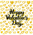 happy valentines day handwritten card vector image vector image
