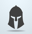 Icon of ancient Greek Roman Spartan helmet vector image vector image