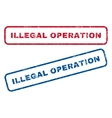 Illegal Operation Rubber Stamps