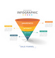 infographic 4 steps modern sales funnel diagram vector image vector image