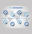 infographic design with toy icons vector image vector image