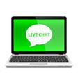 laptop with live chat vector image