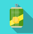 lemonade cans bottle template in modern flat style vector image vector image