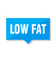 low fat price tag vector image