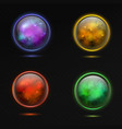 magical sphere glass glowing 3d magic globe vector image vector image