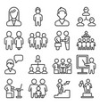 management and business persons icons set line vector image vector image