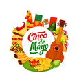 mexican holiday cinco de mayo fiesta celebration vector image vector image