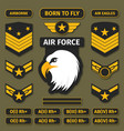 military badges and army patches chevrons vector image vector image