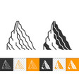 Mountain climbing simple black line icon