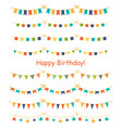 multicolored bright buntings garlands isolated on vector image
