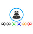 nurse rounded icon vector image vector image