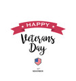 on a veterans day design vector image vector image