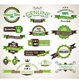 Organic and genuine product labels vector | Price: 1 Credit (USD $1)